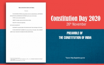 Celebration of Constitution Day – 26th November, 2020.