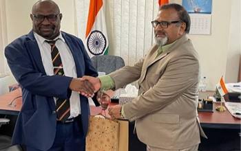 Sushil Kumar Singhal, High Commissioner meeting with Mr. Jimmy Uguro, Education Minister of Papua New Guinea - 04.03.2021