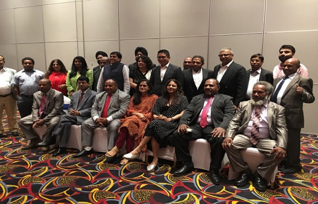 High Commissioner and Mrs. Saxena with CII Delegation